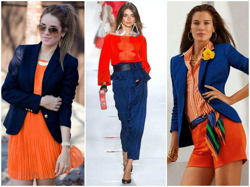 С чем сочетается оранжевый в одежде фото