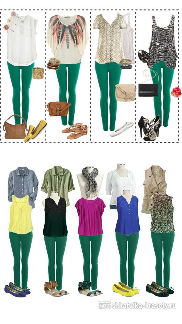 С чем носить платье изумрудного цвета