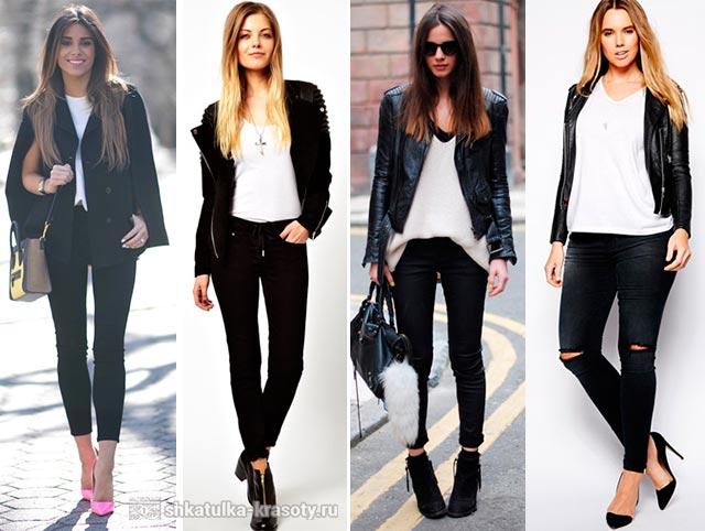 Черно белая рубашка с чем носить