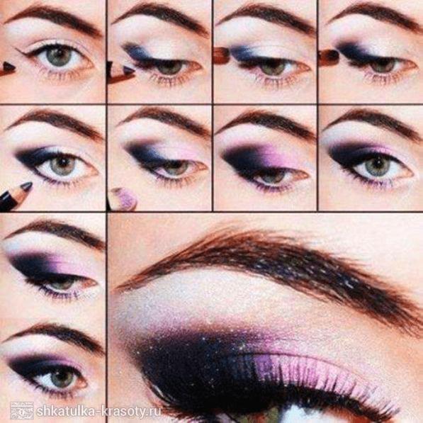 Смоки айс. Smokey eye пошаговая инструкция макияжа.