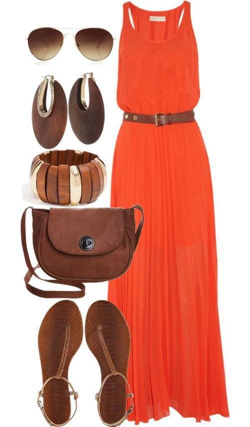 Сочетание цветов в одежде оранжевый