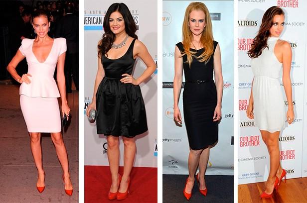красные туфли и вечернее платье