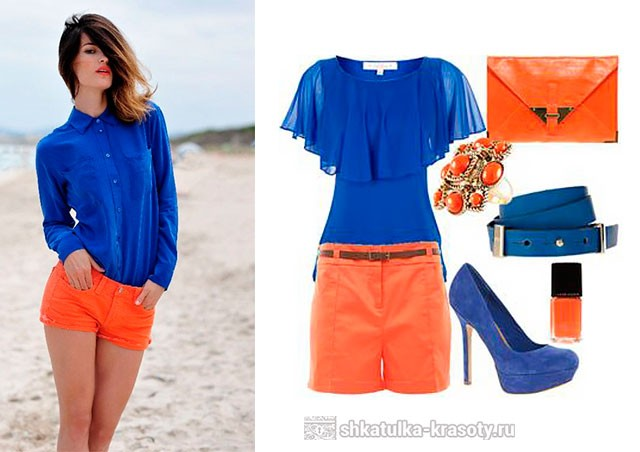 оранжевый цвет в одежде