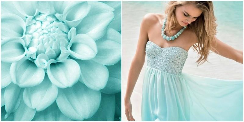 Сочетание цветов в одежде бирюзовый