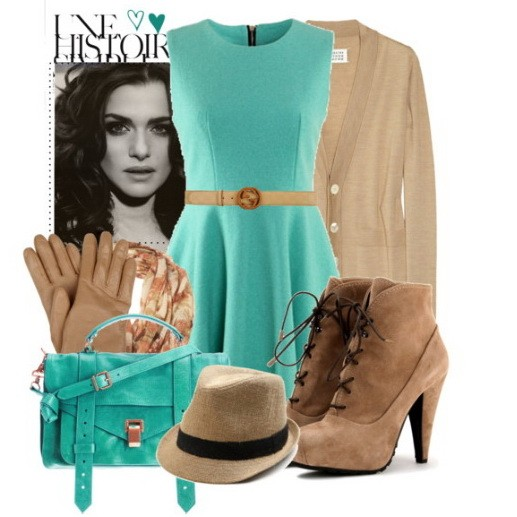 С чем сочетается бежевый цвет юбки