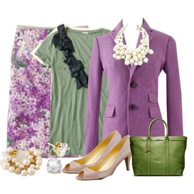 Сочетание цветов в одежде сиреневый