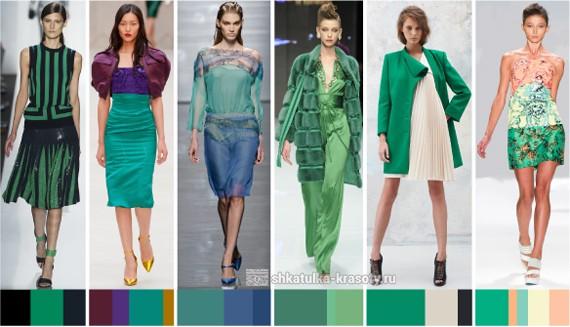 в одежде зеленый
