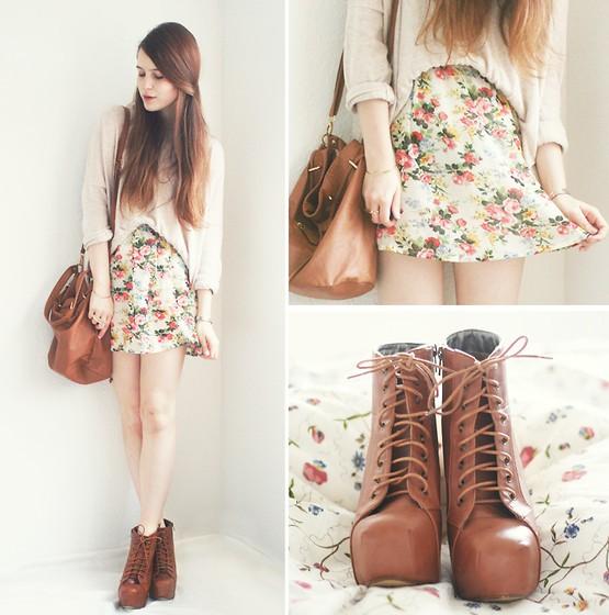 юбка с цветочным принтом