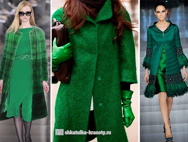 зеленый цвет в одежде