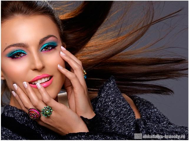 Бирюзовый макияж фото