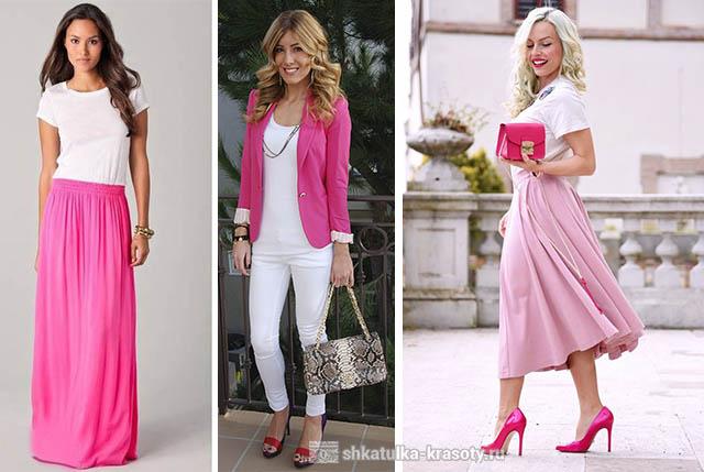 С чем сочетать розовую одежду рекомендации