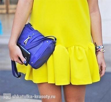 Сочетание цветов в одежде желтый и синий