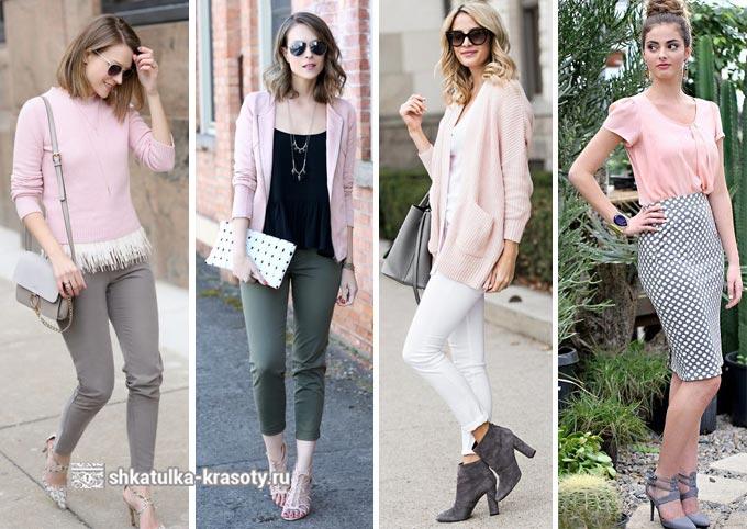 сочетание розового в одежде
