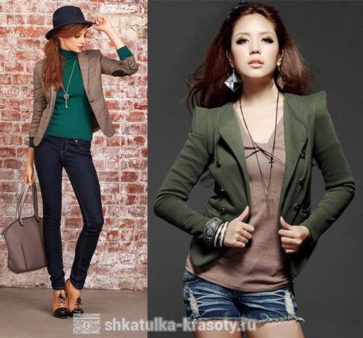 Сочетание цветов в одежде коричневый и зеленый