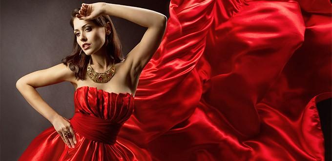 Аксессуары к красному платью. С чем носить. Фото