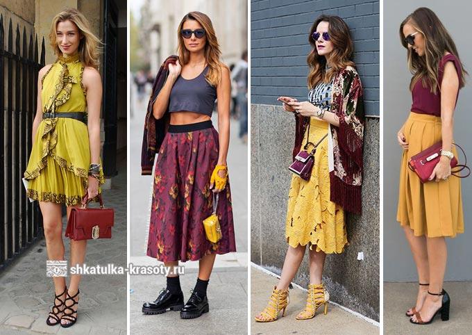 бордовый с желтым в одежде