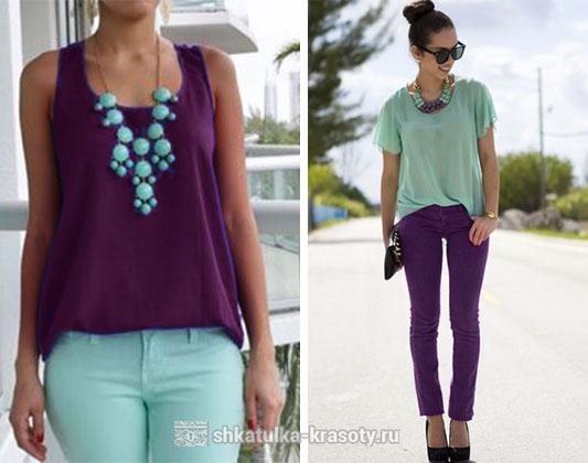 Сливовый цвет в одежде зеленый