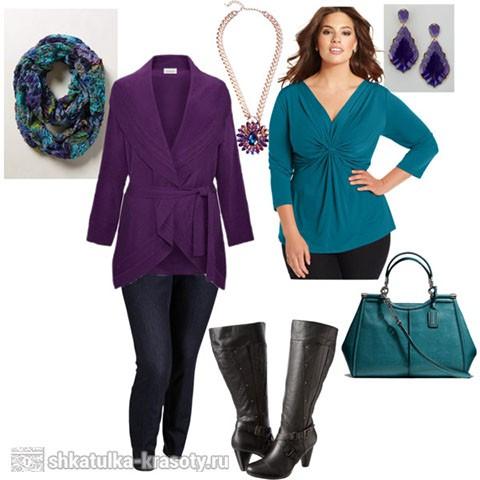 Сливовый цвет в одежде синий
