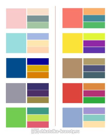 Модные сочетания цветов это