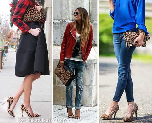 леопардовые туфли и аксессуары