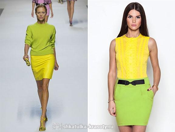 с чем сочетается салатовый цвет в одежде