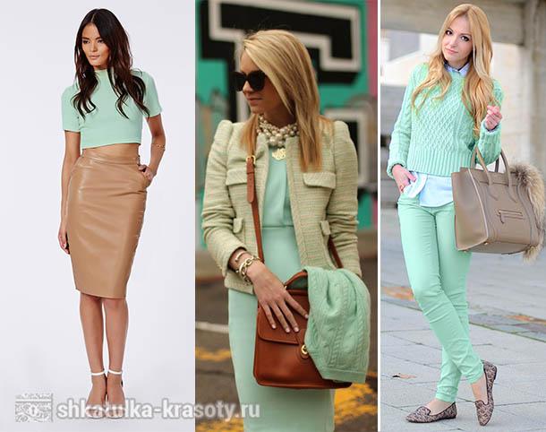С чем носить юбку цвета мята