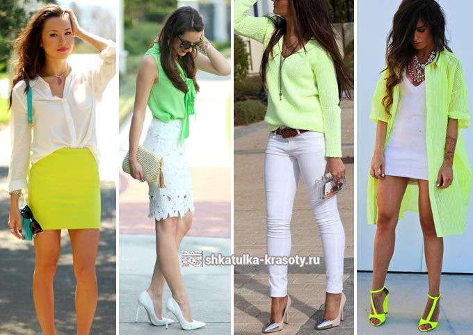 салатовый цвет в одежде