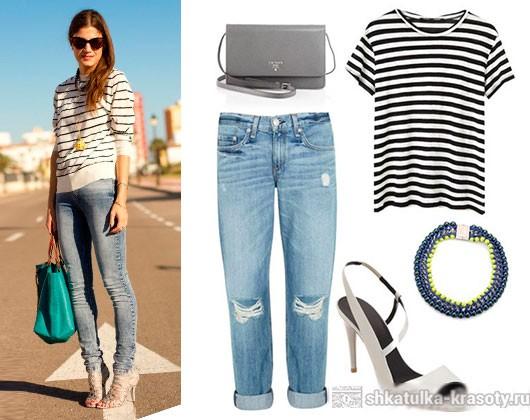 тельняшка и джинсы