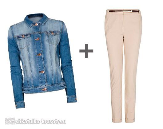 джинсовая куртка и брюки