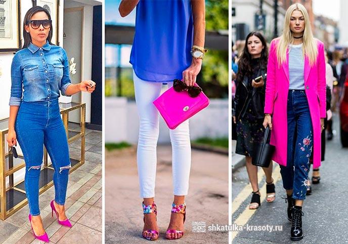 Платье фуксия с туфлями фуксия