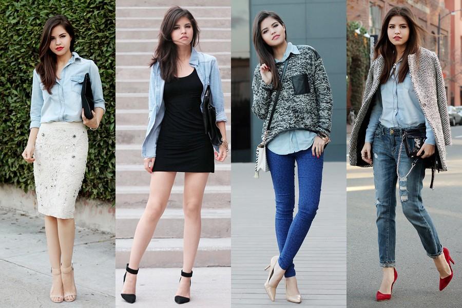 С чем носить джинсовую рубашку женскую