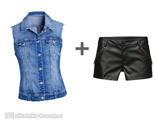 С чем носить джинсовую жилетку