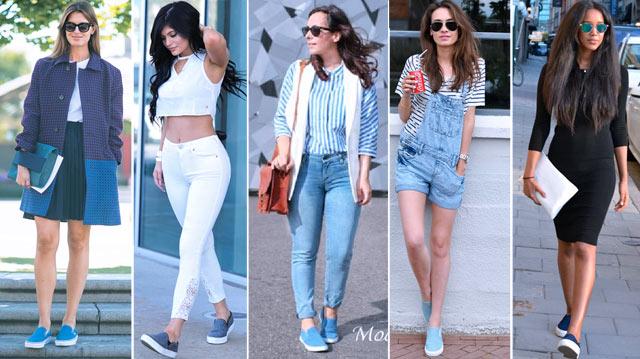 с чем носить джинсовые слипоны