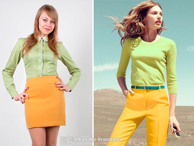 фисташковый цвет в одежде