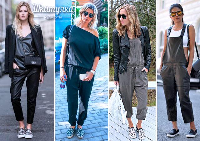 джинсовые слипоны женские с чем носить