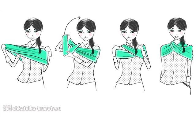 как носить снуд