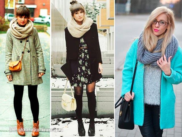 как носить шарф хомут