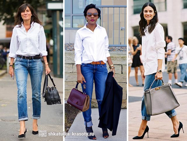 90989682fa0 с чем носить белую рубашку с чем носить белую блузку ...