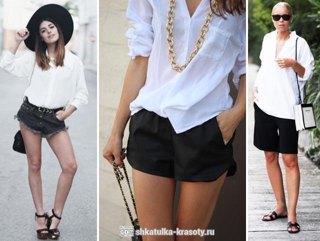 с чем носить белую рубашку женскую
