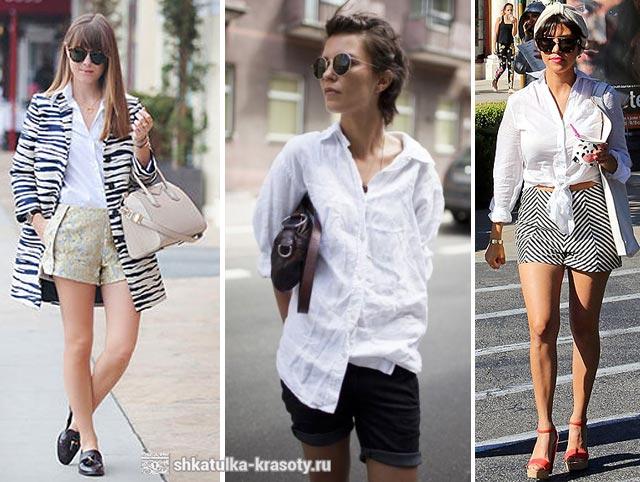 с чем носить рубашку женскую