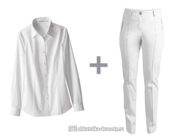 Брюки и белая рубашка для женщин