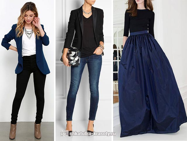 сочетание черного цвета в одежде
