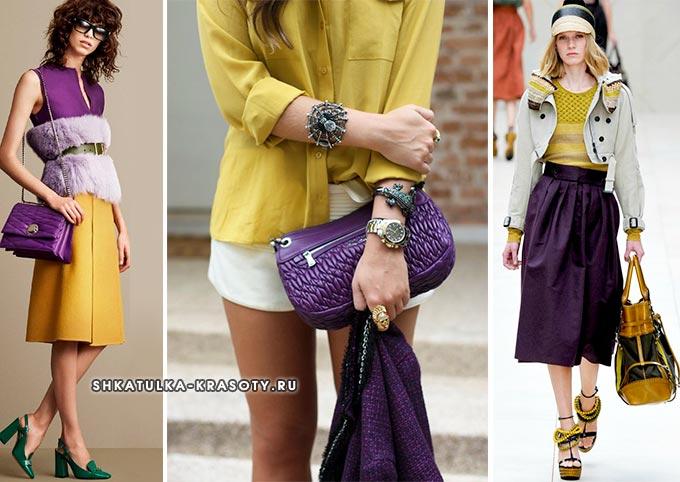 ... horčica s fialovou v oblečení fotografie b78a5741243