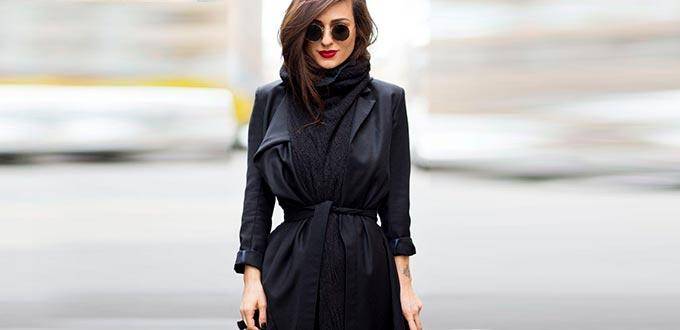 сочетание цветов в одежде черный