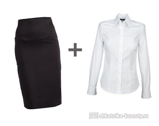 С чем носить черную юбку карандаш