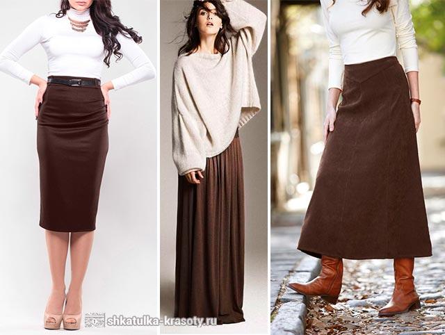 темно коричневый одежде