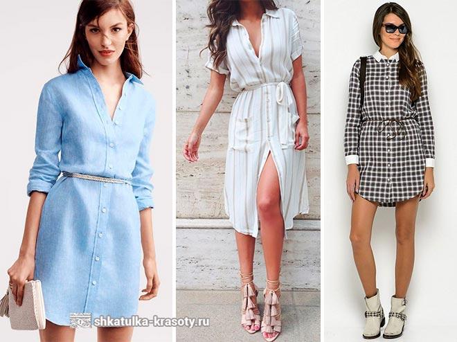 Платье-рубашка с чем носить