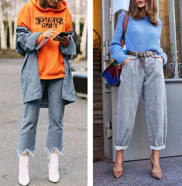 образы с серыми джинсами ярким худи и джемпером