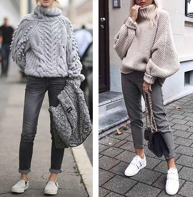комплекты со свитерами для девушек
