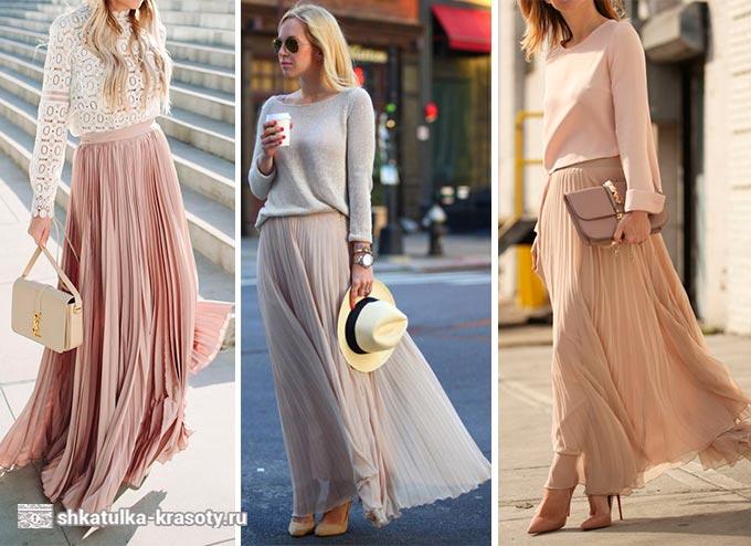 юбка плиссе с чем носить